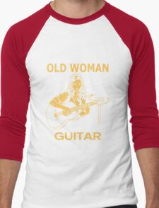 Never Underestimate An Old Woman With A Guitar Men's Baseball ¾ T-Shirt