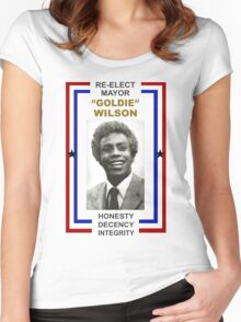 Re-elect Mayor Goldie Wilson T Shirt Women's Fitted Scoop T-Shirt