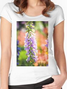 Purple Delphinium #1 Women's Fitted Scoop T-Shirt