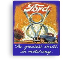 The Greatest Thrill In Motoring Canvas Print