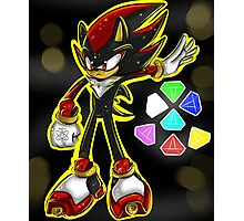 All Hail Shadow The Hedgehog Photographic Print