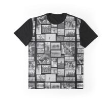 B&W Vintage Swimmers - Large Format  Graphic T-Shirt