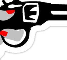 Woman's Hand on a Gun Sticker