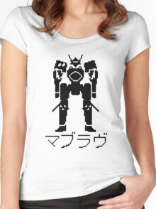 Muv Luv Pixel Mecha Robot TSF Women's Fitted Scoop T-Shirt