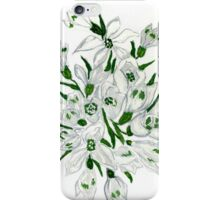 Snowdrop Flowers Painting 2 iPhone Case/Skin