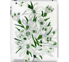 Snowdrop Flowers Painting 2 iPad Case/Skin