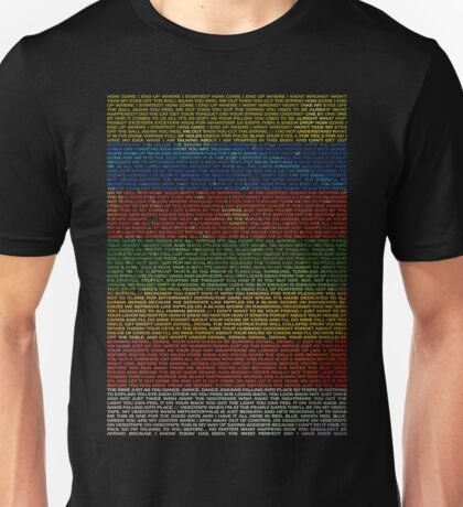 Radiohead - In Rainbows Lyrics T-Shirt Design #1 Unisex T-Shirt