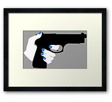Woman's Hand on a Gun Framed Print