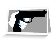 Woman's Hand on a Gun Greeting Card
