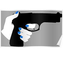 Woman's Hand on a Gun Poster