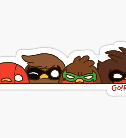 Go!Robins! - Robin Row Sticker