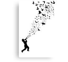 Music - Freedom Music and the Birds Canvas Print