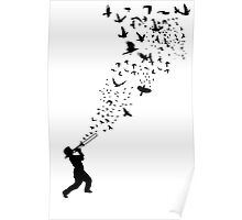 Music - Freedom Music and the Birds Poster