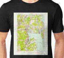 USGS TOPO Map Rhode Island RI East Greenwich 353279 1942 24000 Unisex T-Shirt
