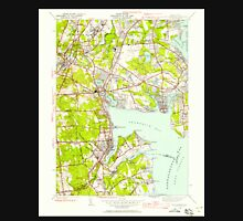USGS TOPO Map Rhode Island RI East Greenwich 353279 1942 24000 T-Shirt
