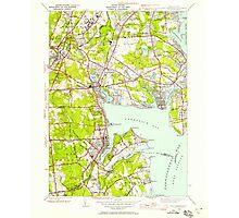 USGS TOPO Map Rhode Island RI East Greenwich 353279 1942 24000 Photographic Print