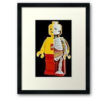 Lego - Lego Man - Anatomy Framed Print