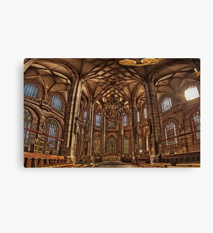St. Lorenz Church St. Lorenz Kirche, Nuremberg Interior Canvas Print