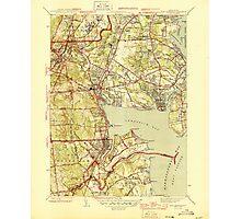 USGS TOPO Map Rhode Island RI East Greenwich 353412 1944 31680 Photographic Print