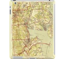 USGS TOPO Map Rhode Island RI East Greenwich 353412 1944 31680 iPad Case/Skin
