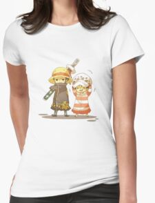 One Piece - Luffy and Law Womens Fitted T-Shirt