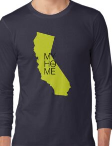 California my home. State map CA Long Sleeve T-Shirt