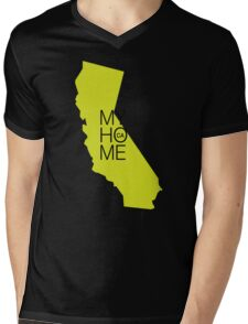California my home. State map CA Mens V-Neck T-Shirt