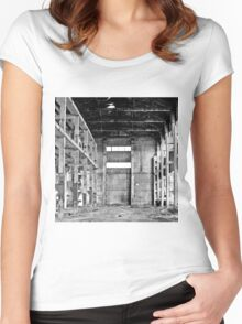 Abandoned factory in Tbilisi Women's Fitted Scoop T-Shirt