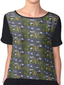 Forget-me-not Chiffon Top