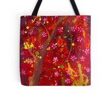 Under the cherry tree Tote Bag
