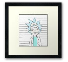 Rick - The scientist Framed Print
