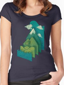 How to Build a Landscape Women's Fitted Scoop T-Shirt