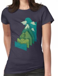 How to Build a Landscape Womens Fitted T-Shirt