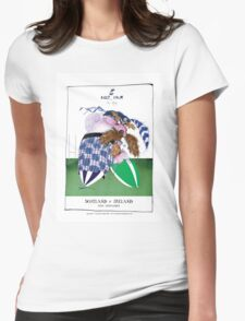 Rugby Balls! scotland v ireland, tony fernandes Womens Fitted T-Shirt