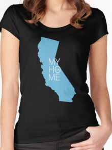California my home. State map CA (dark version) Women's Fitted Scoop T-Shirt