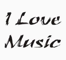 I Love Music Tee Baby Tee