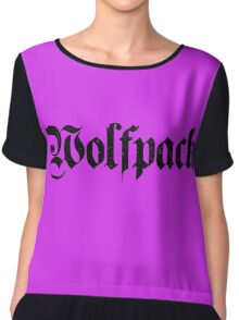 Wolfpack Distressed Chiffon Top