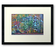 Mural Two Face Framed Print