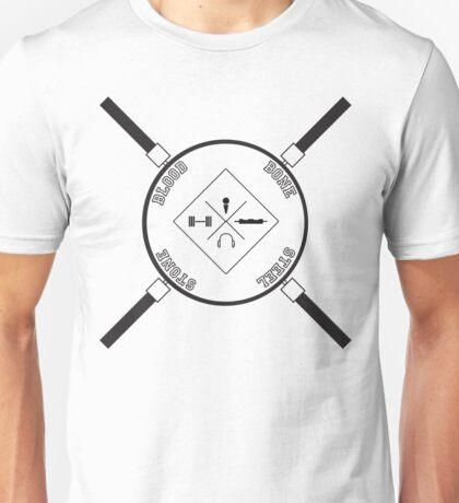 Blood, Bone, Steel Stone Unisex T-Shirt