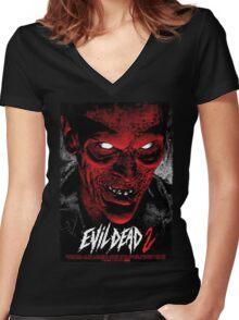 Evil Dead Poster Women's Fitted V-Neck T-Shirt
