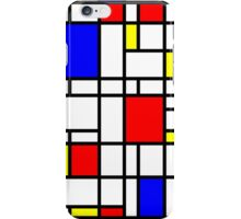 Modern Art Red Yellow Blue Grid Pattern iPhone Case/Skin