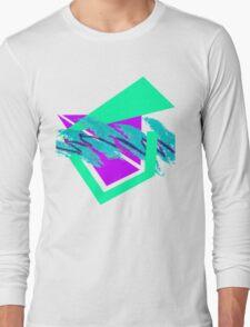 90's abstract vaporwave aesthetics Long Sleeve T-Shirt