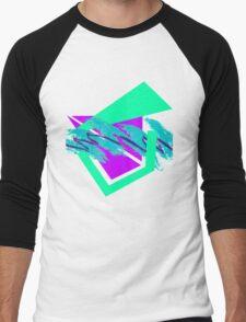 90's abstract vaporwave aesthetics Men's Baseball ¾ T-Shirt