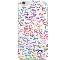 Taylor Swift Song Names iPhone Case/Skin