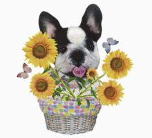 French Bulldog Sunshine and Daisies Kids Tee