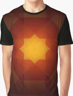 Red and yellow star pattern Graphic T-Shirt