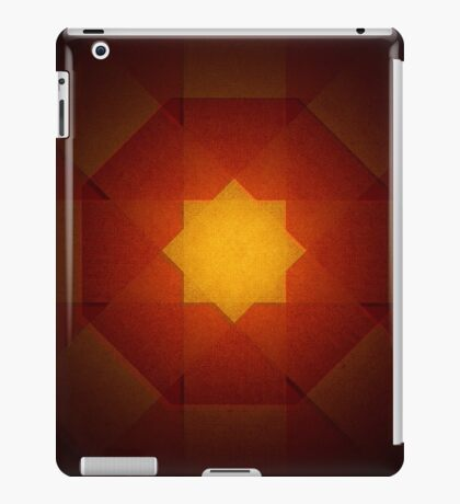 Red and yellow star pattern iPad Case/Skin