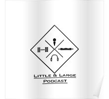 Traditional Little and Large Logo Poster