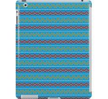 Modern African Pattern in Blue iPad Case/Skin