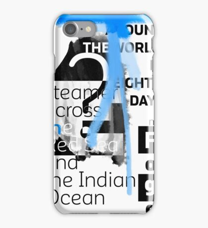 Steamer across the Red Sea and the Indian Ocean iPhone Case/Skin